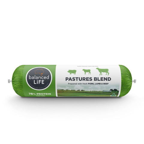 Balanced Life Original Pastures Blend Pork Lamb Beef Dog Food Roll Dog Food