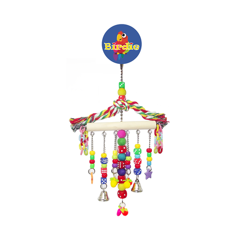 Birdie Large Hanger With Beads Dice Plastic Chain