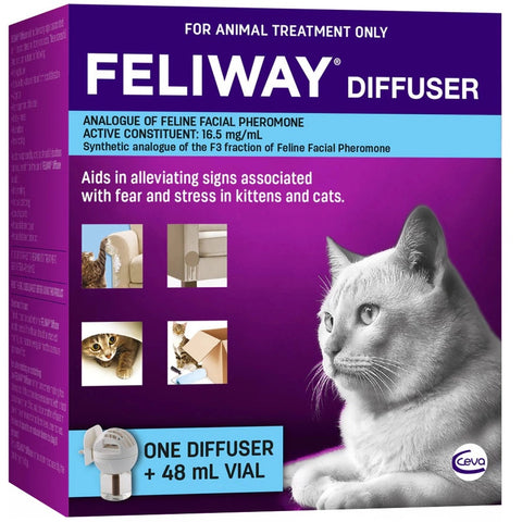 Feliway Fear and Stress Diffuser and Refill For Kittens and Cats