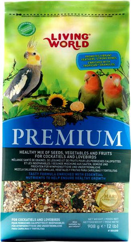 Living World Premium Cockatiel and Love Bird Mix