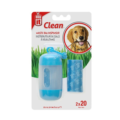 Dogit Waste Bag Dispenser with Bags - Blue