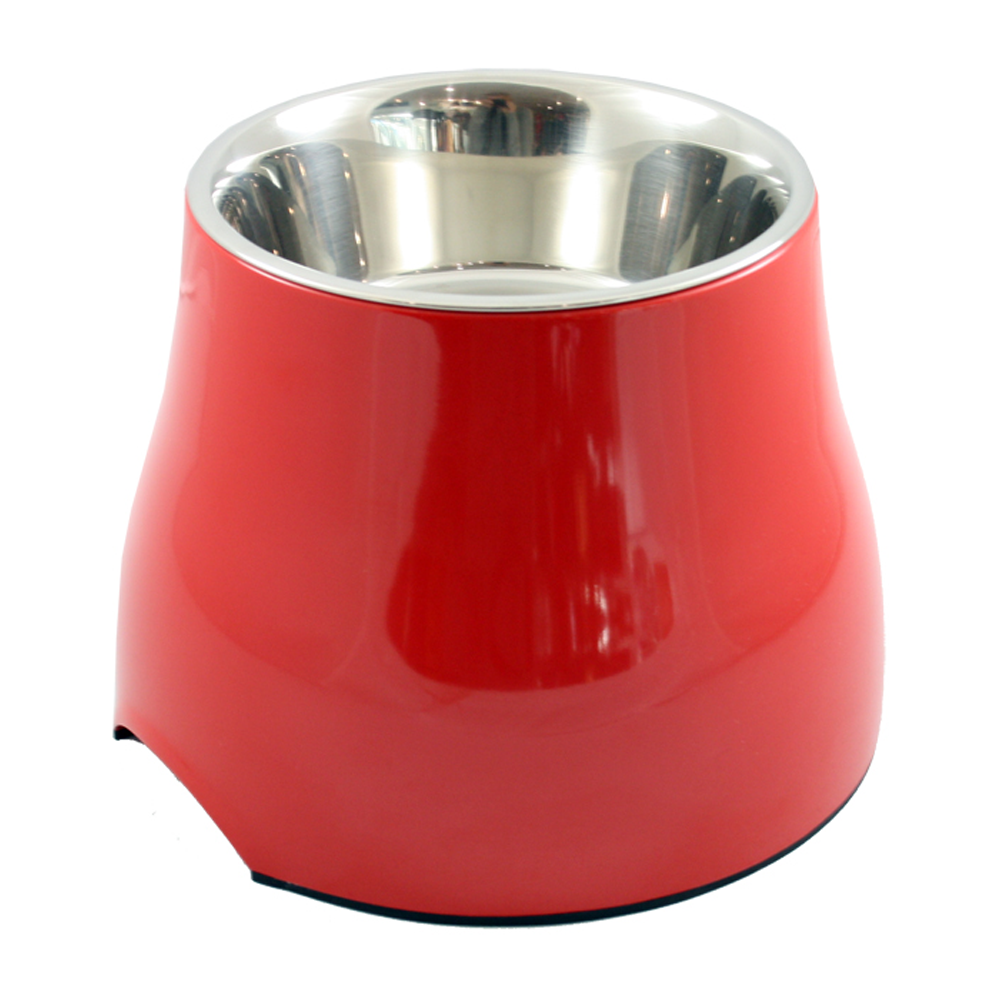 Dogit 2 in 1 Elevated Dog Bowls - Red