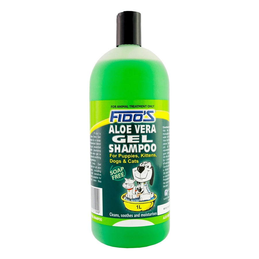 Fidos Aloe Vera Gel Soap Free Shampoo for Dogs and Cats