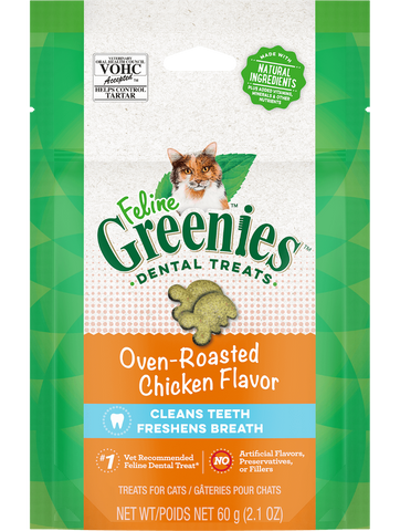 Greenies Feline Oven Baked Chicken Dental Chew