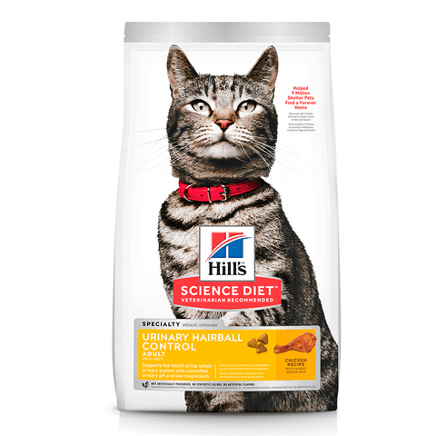 Hills Science Diet Adult Urinary Hairball Control Dry Cat Food