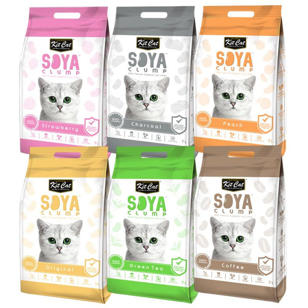 Kit Cat Soya Clump Cat Litter 7L