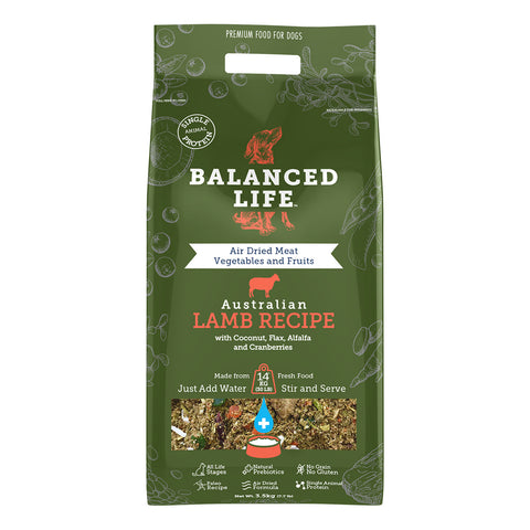 Balanced Life Adult Rehydratable Dog Food - Lamb
