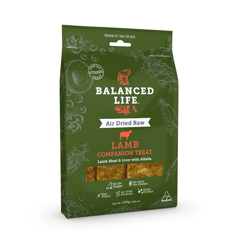 Balanced Life Companion Dog Treat - Lamb 140g