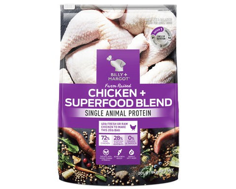 Billy and Margot Dog Dry Food - Chicken Superfood Blend