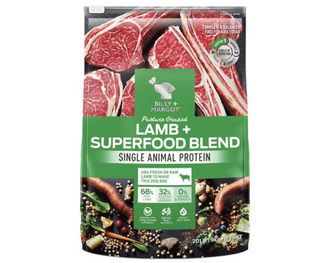 Billy and Margot Dog Dry Food - Lamb Superfood Blend