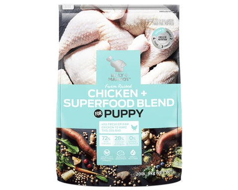 Billy and Margot Dog Dry Food - Chicken Superfood Blend Puppy