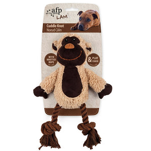 All For Paws Cuddle Dental Monkey With Rope Dog Toy