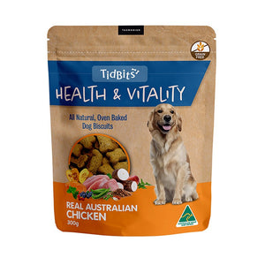 Tidbits Health & Vitality Grain Free Chicken Dog Biscuits