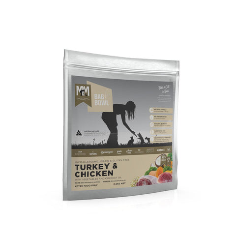 Meals For Meows Turkey Chicken Gluten and Grain Free Kitten Food