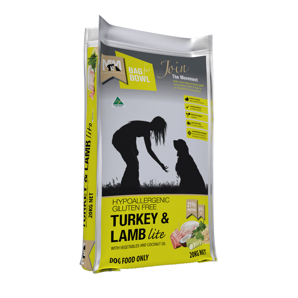 Meals For Mutts Turkey and Lamb Lite Gluten Free Dog Food