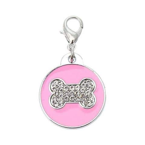 Diamante Bone Dog Collar Charm