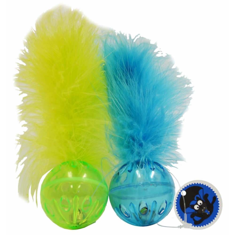Scream Lattice Ball Green and Blue Cat Toy
