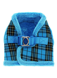 Luxury Fur Lined Harness - Blue