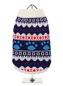 Sweater - Fair Isle Vintage White