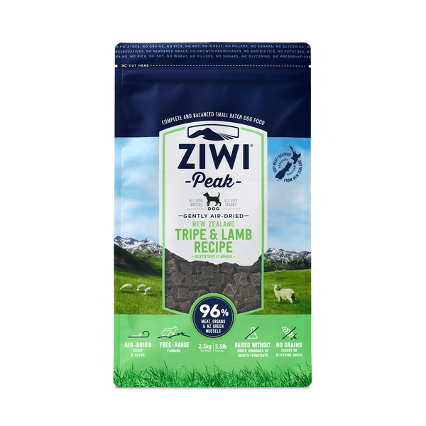 Ziwi Peak Air-Dried Dog Dry Food - Tripe & Lamb