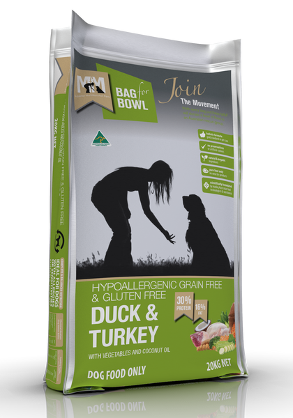 Meals For Mutts Duck and Turkey Gluten Free Grain Free Dog Food