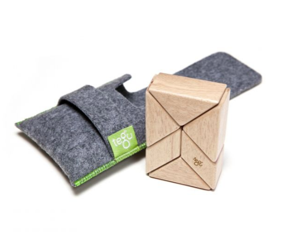 TEGU 6-PIECE POCKET POUCH PRISM - NATURAL