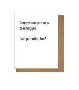 Teaching Job Greeting Card