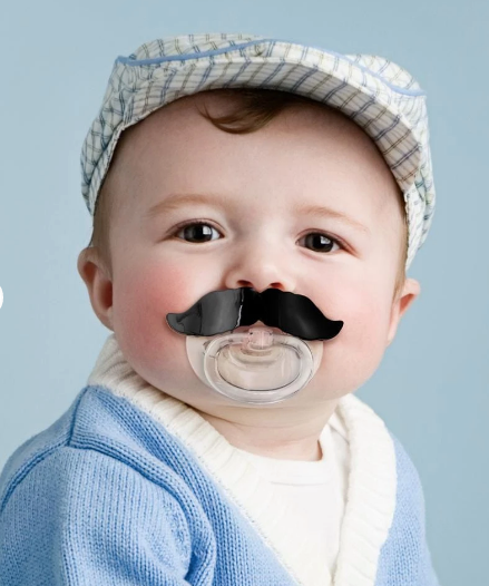 CHILL BABY PACIFIER - MUSTACHE