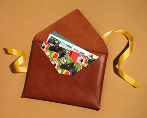 Leather pouch with collection of your choice 🎁