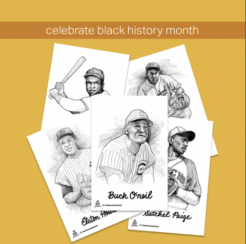 Collectors Edition: Negro League Baseball illustrations by @therealericanderson (pen and ink)