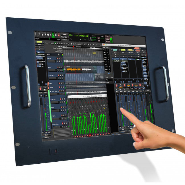 Monitor LCD 17'' Touch Screen per Rack 19'' 8 Unità