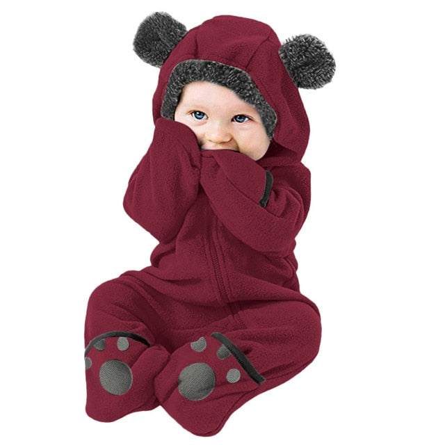 Baby Clothes Toddler Winter Footed Jumpsuit