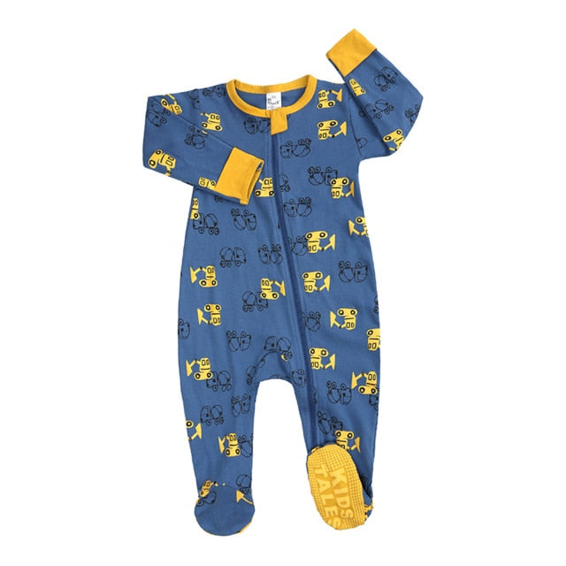 Newborn  Footed Rompers