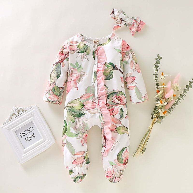 Baby Girl Flowers Outerwear Coat