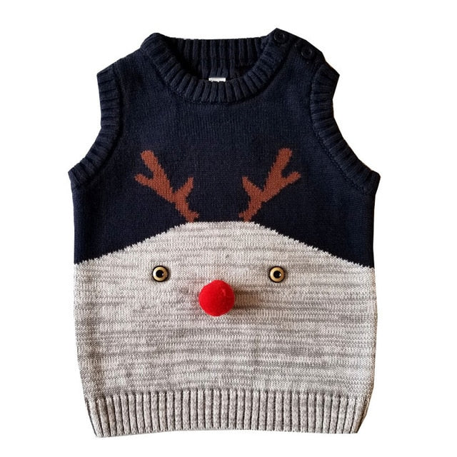 Girl Boy Winter Christmas Deer Sweater
