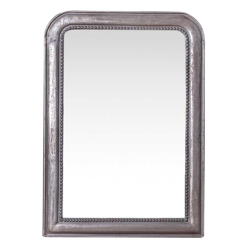 ANTIQUE SILVER WOODEN MIRROR 129x92cm