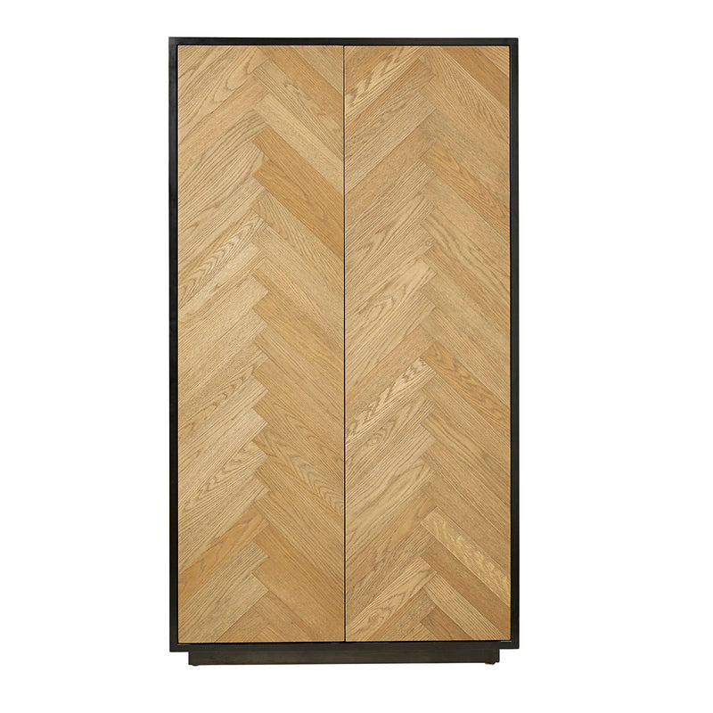 ##HALIE CABINET in WEATHER OAK/BLACK
