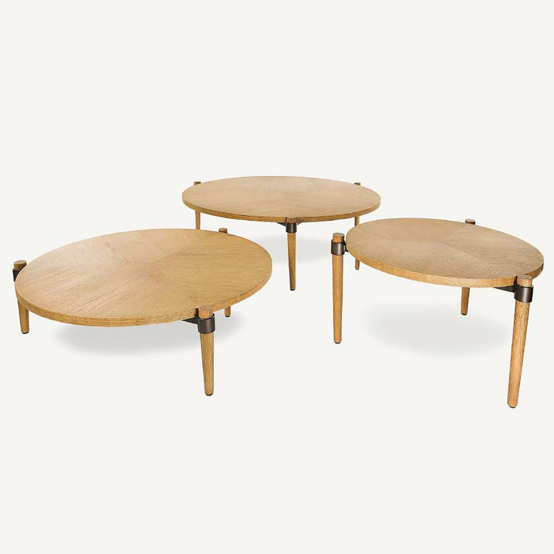 COLETTE LOW OAK COFFEE TABLE D80H29cm