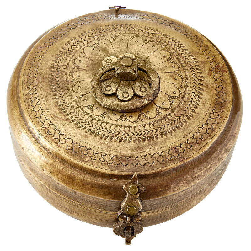 BRASS KATORDAN/CHAPATI BOX - ASSORTED