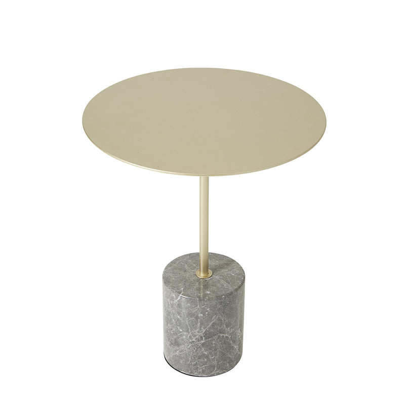 SURI GOLD SIDE TABLE w/ MARBLE BASE