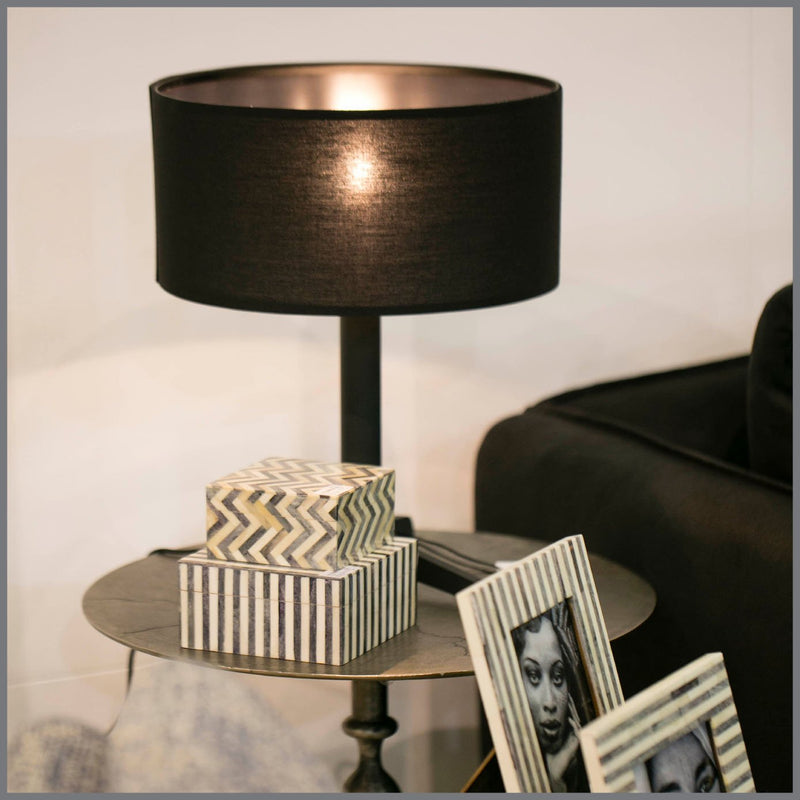 CLARION TABLE LAMP-BLACK H48cm