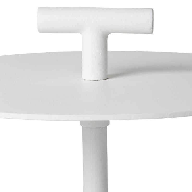 STELLA WHITE OUTDOOR SIDE TABLE