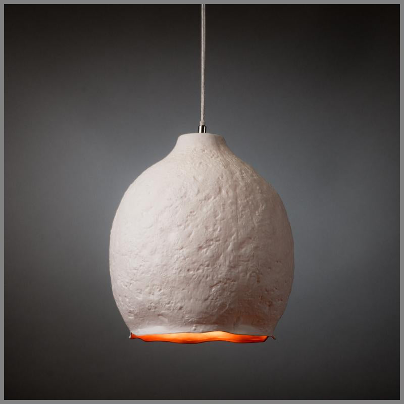 TEXTURED PORCELAIN PENDANT LIGHT D26H29