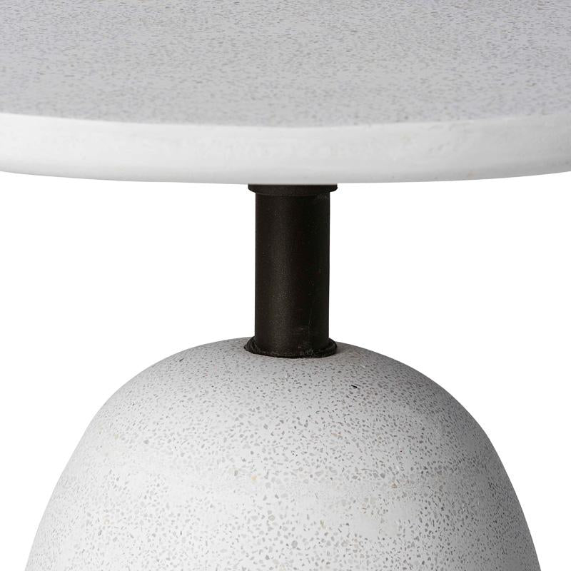 KELLAN WHITE OUTDOOR SIDE TABLE