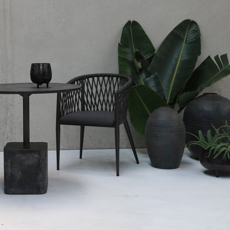 ##SIENNA BLACK OUTDOOR CAFE TABLE