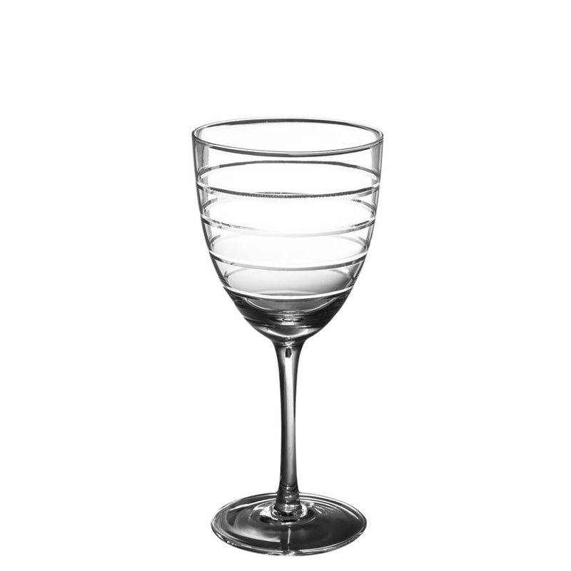 ABELLA WHITE WINE GLASS with ETCHING