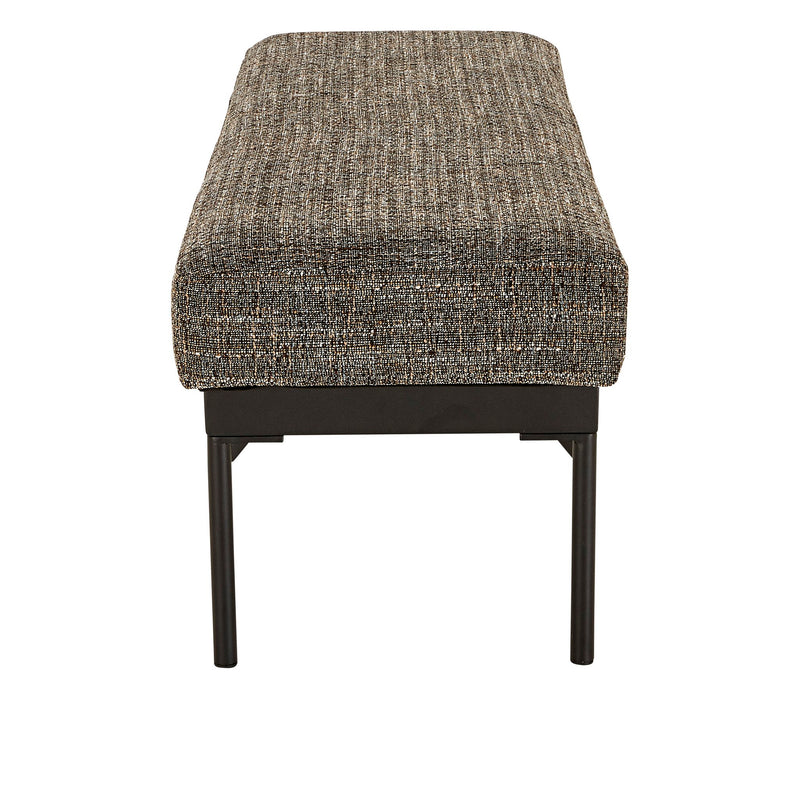 ADI OTTOMAN-BLACK/WHITE/PINK/GREY TWEED