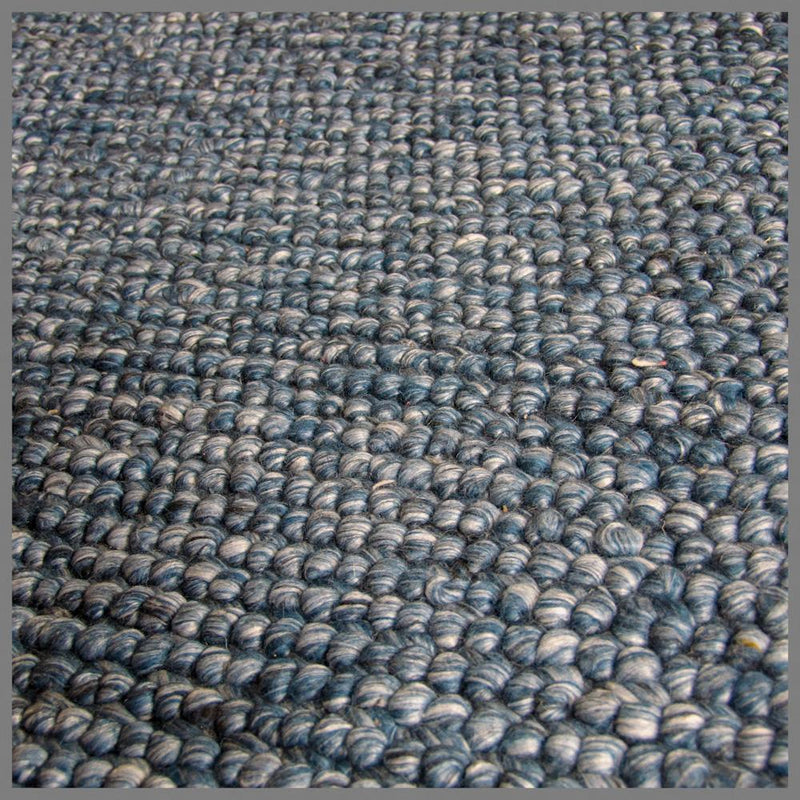 REGALO BLUE WOOL HANDWOVEN RUG 235x170cm