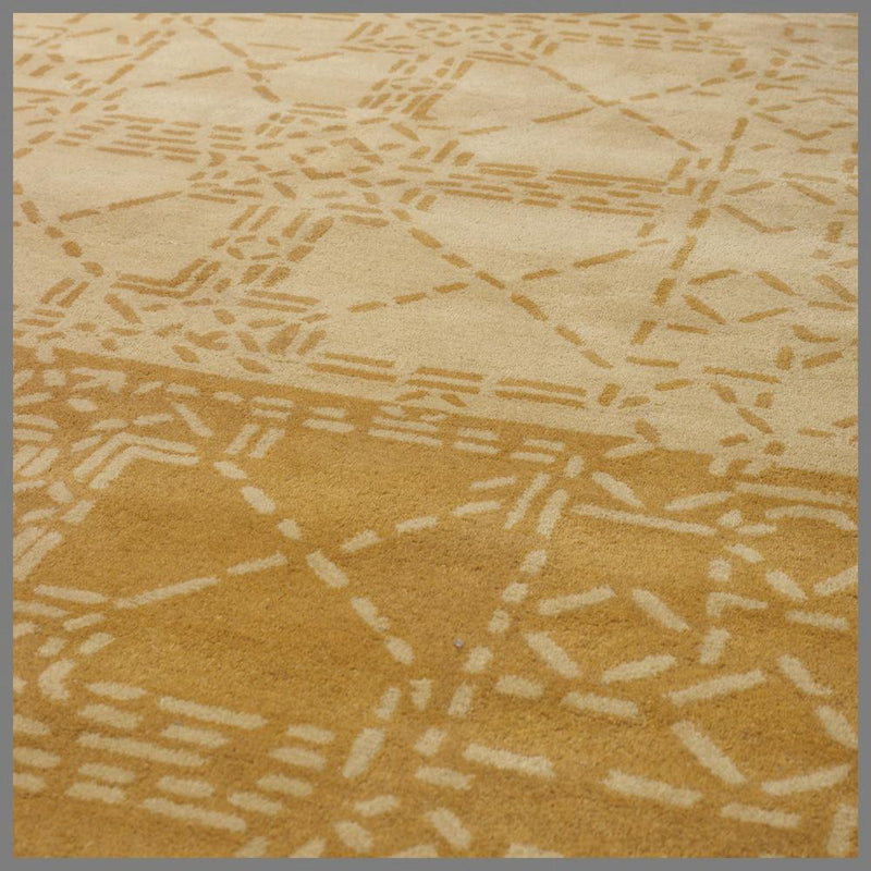WOOL HAND TUFTED YELLOW RUG 170x240cm