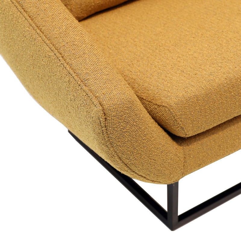 HENLEY OCCASIONAL CHAIR-MUSTARD BOUCLE